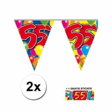 55 jaar vlaggenlijnen 2x met gratis sticker