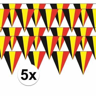 5x belgische vlaggenlijn / slinger 5 meter