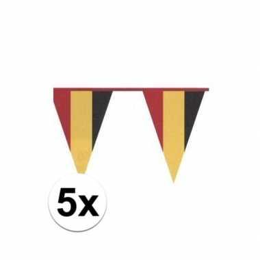 5x belgische vlaggenlijn