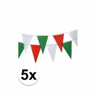 5x italie vlaggenlijnen 4 meter