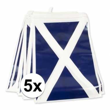 5x schotland vlaggenlijnen