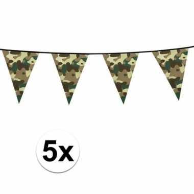 5x slinger met legerprint 6 meter