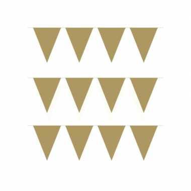 5x stuks vlaggenlijn kleur goud 10 meter