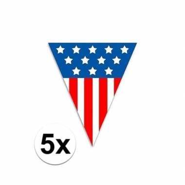 5x usa vlaggenlijnen 5 meter