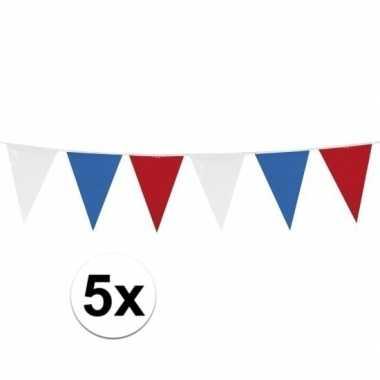 5x vlaggenlijnen holland van 10 meter
