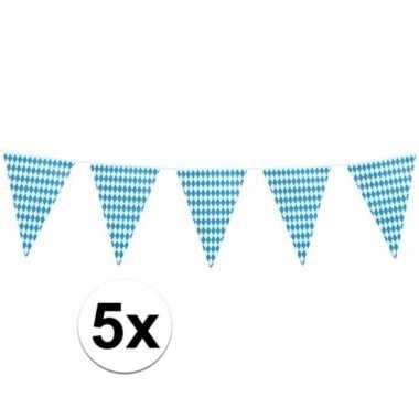5x xl oktoberfest vlaggenlijnen 8 m