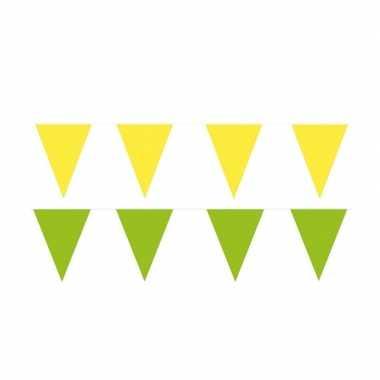60 meter gele/groene buitenvlaggetjes