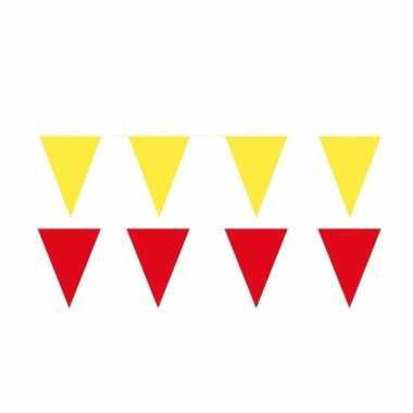 60 meter gele/rode buitenvlaggetjes