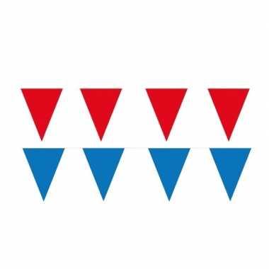 60 meter rode/blauwe buitenvlaggetjes