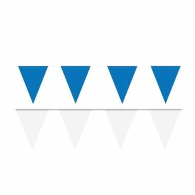 60 meter witte/blauwe buitenvlaggetjes