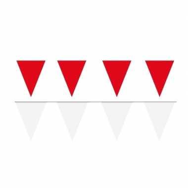 60 meter witte/rode buitenvlaggetjes