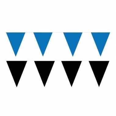 60 meter zwart/blauwe buitenvlaggetjes