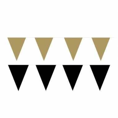 60 meter zwart/gouden buitenvlaggetjes