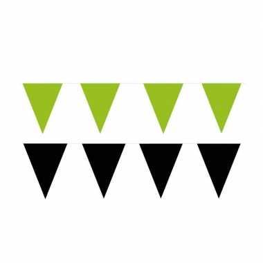 60 meter zwart/groene buitenvlaggetjes