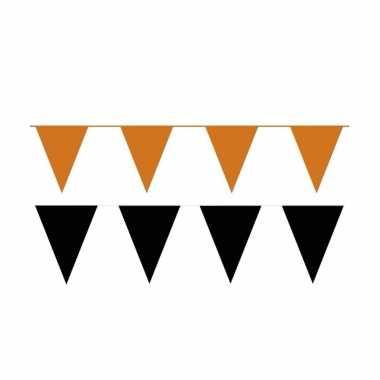 60 meter zwart/oranje buitenvlaggetjes
