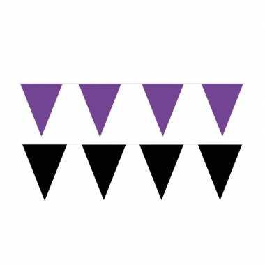 60 meter zwart/paarse buitenvlaggetjes