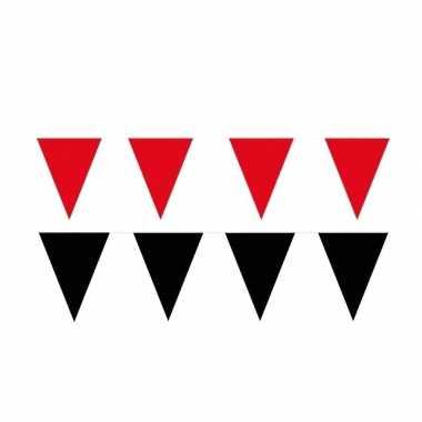 60 meter zwart/rode buitenvlaggetjes