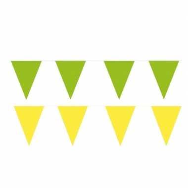 80 meter gele/groene buitenvlaggetjes