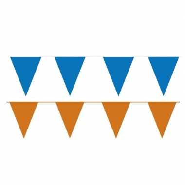 80 meter oranje/blauwe buitenvlaggetjes