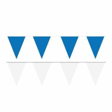 80 meter witte/blauwe buitenvlaggetjes