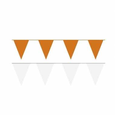 80 meter witte/oranje buitenvlaggetjes