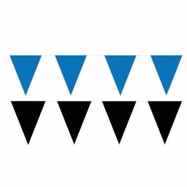 80 meter zwart/blauwe buitenvlaggetjes