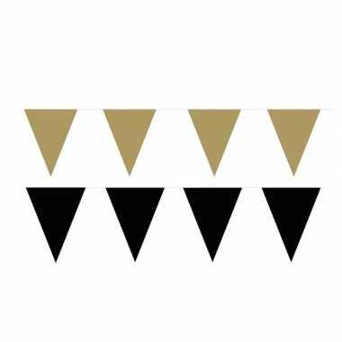 80 meter zwart/gouden buitenvlaggetjes