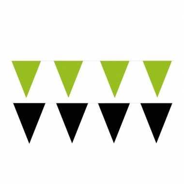80 meter zwart/groene buitenvlaggetjes