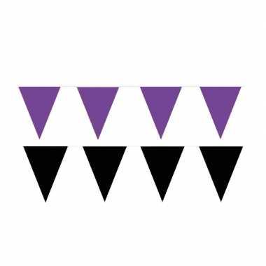 80 meter zwart/paarse buitenvlaggetjes