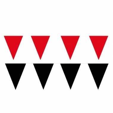 80 meter zwart/rode buitenvlaggetjes