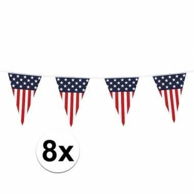 8x amerikaanse vlaggenlijn 6 meter