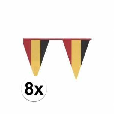8x belgische vlaggenlijn