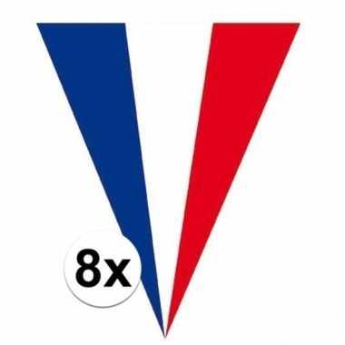 8x franse vlaggenlijnen 5 meter