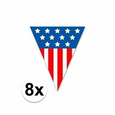 8x usa vlaggenlijnen 5 meter