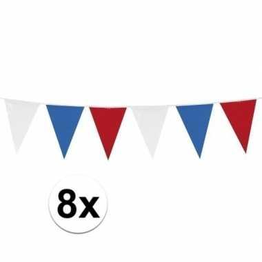 8x vlaggenlijnen holland van 10 meter