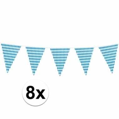 8x xl oktoberfest vlaggenlijnen 8 m