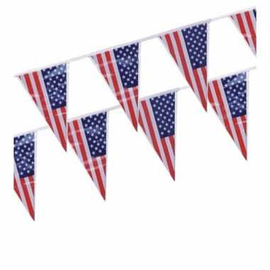 Amerika vlaggenlijn punt
