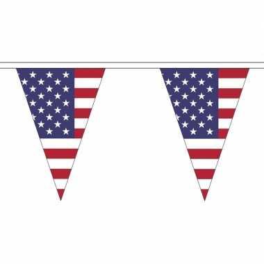 Amerikaanse vlaggenlijn van stof 5 m