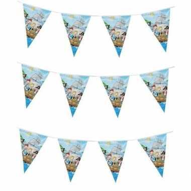 Blauwe feest slinger piraten thema 6 m