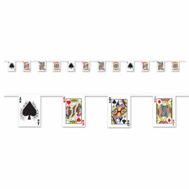 Casino slinger met kaartspel 4 meter