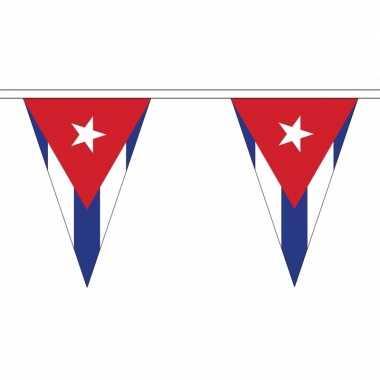 Cubaanse vlaggenlijn van stof 5 m