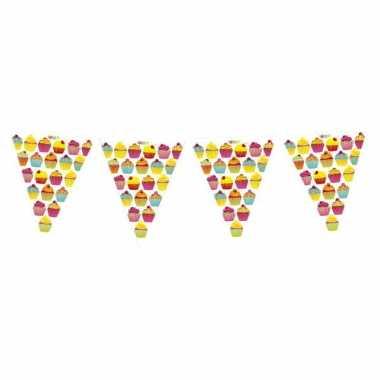 Cupcake vlaggenlijnen 6 meter