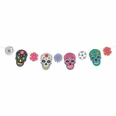 Day of the dead/dia de los muertos feest/party banner letterslinger v