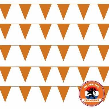 Ek/ wk/ koningsdag oranje versiering pakket met oa 50 meter xl oranje vlaggenlijnen/ vlaggetjes