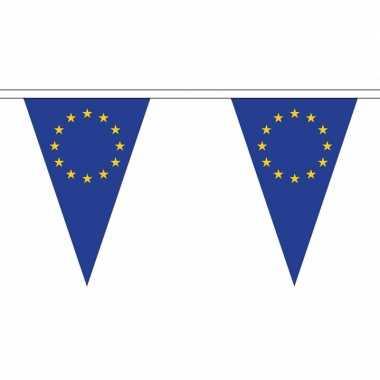 Europese vlaggenlijn van stof 20 m