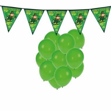 Feestartikelen st. patricks day versiering met ballonnen en slinger
