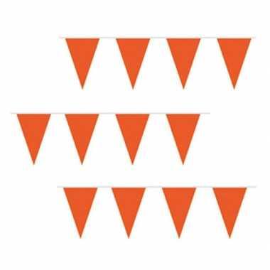 Goedkope oranje vlaggenlijn 10 m