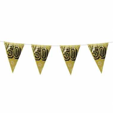 Gouden bruiloft vlaggenlijn 50 jaar 8 meter