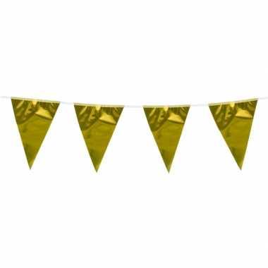 Goudkleurige vlaggenlijn 10 meter
