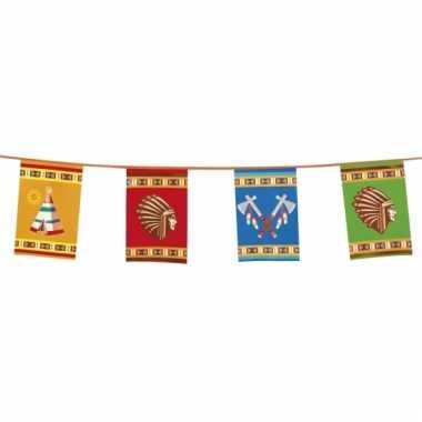 Grote indianen vlaggenlijn 10 meter